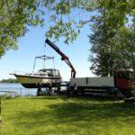 Boote Einsetzen im Frühjahr